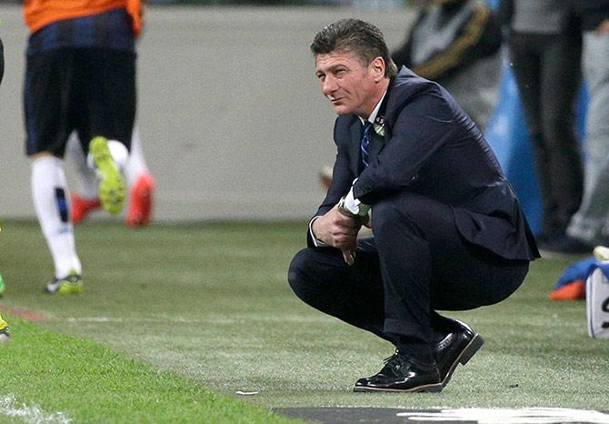 Inter Milan's coach Walter Mazzarri