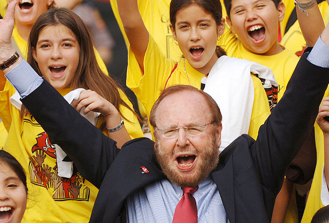 Manchester United and Tampa Bay Buccaneers owner Malcolm Glazer