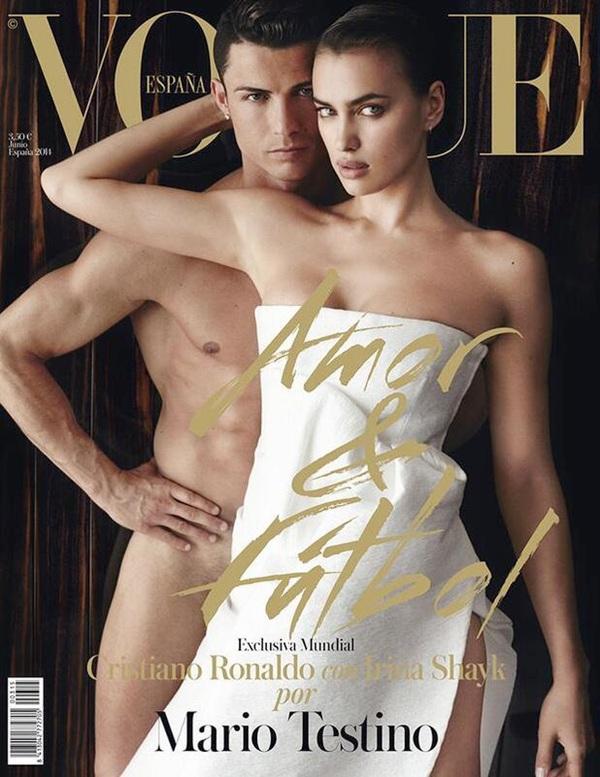 Cristiano Ronaldo poses with Irina Shayk