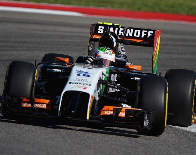 Sergio Perez of Force India