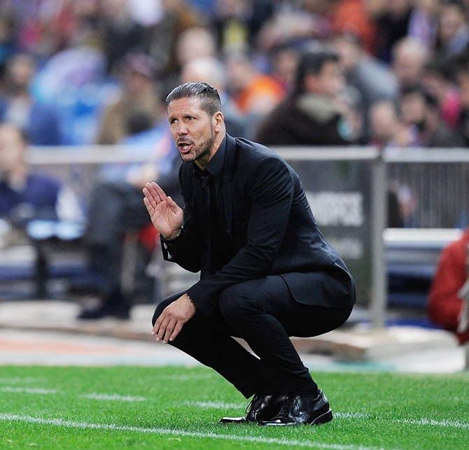 Rediff Sports - Cricket, Indian hockey, Tennis, Football, Chess, Golf - Simeone boost for Atletico ahead of CL final