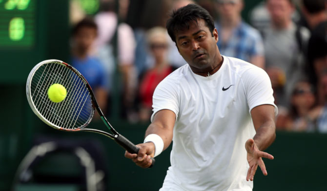 Rediff Sports - Cricket, Indian hockey, Tennis, Football, Chess, Golf - Paes reaches quarterfinals with 108th partner