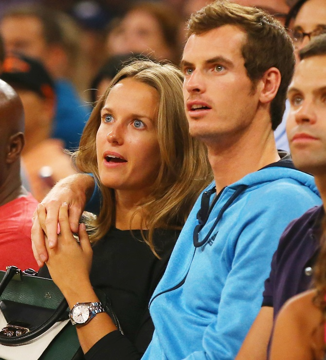 Andy Murray with wife Kim Sears