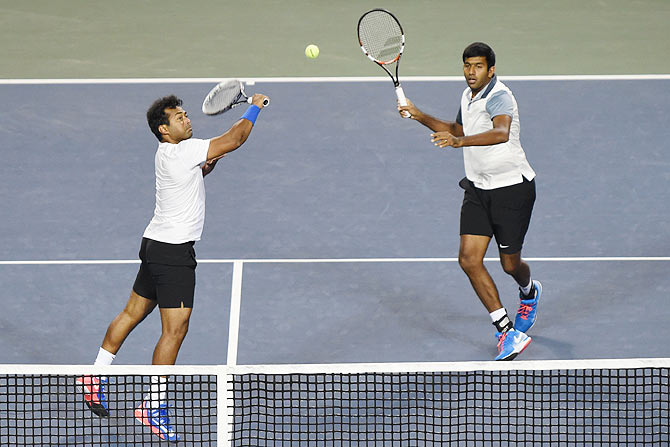 Rediff Sports - Cricket, Indian hockey, Tennis, Football, Chess, Golf - Paes should not sulk; Bopanna is No 1 doubles player: Bhupathi