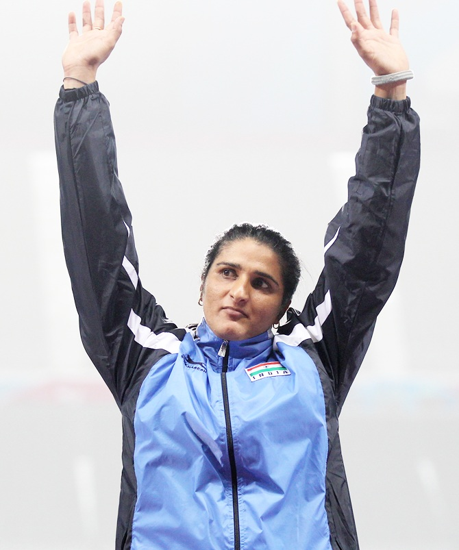 Rediff Cricket - Indian cricket - Discus thrower Seema Punia qualifies for Rio Olympics