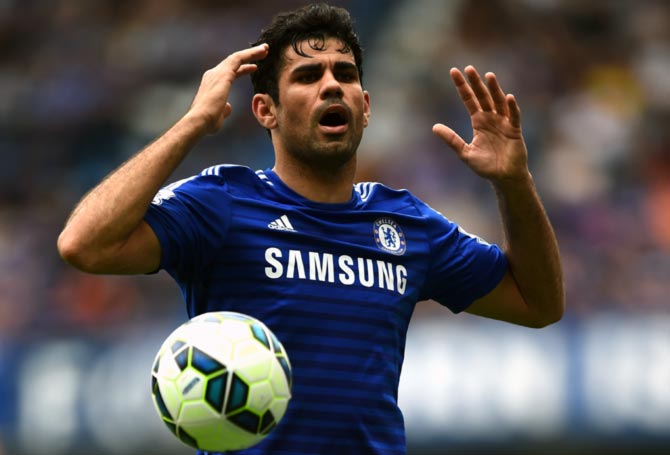 Rediff Sports - Cricket, Indian hockey, Tennis, Football, Chess, Golf - Costa ruled out of Maribor clash as injuries hit Chelsea
