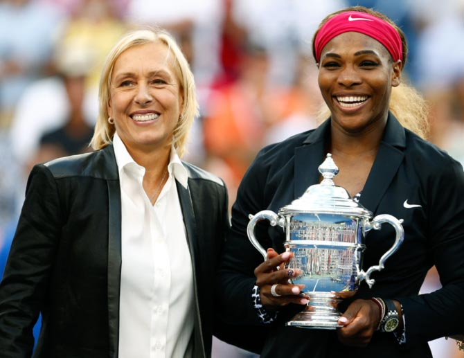 Rediff Sports - Cricket, Indian hockey, Tennis, Football, Chess, Golf - Navratilova unhappy with ITF silence on Williams slur