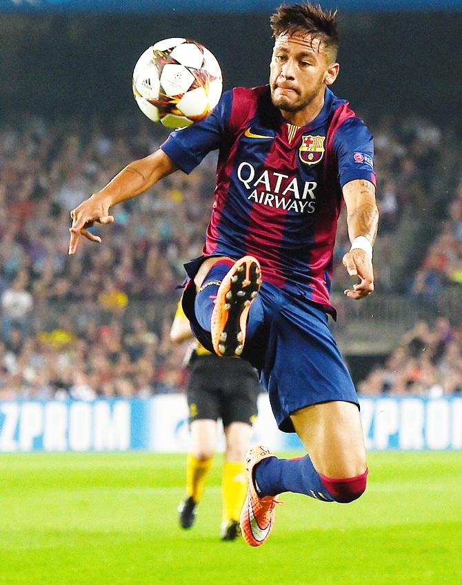 Rediff Sports - Cricket, Indian hockey, Tennis, Football, Chess, Golf - Spanish court drops fraud investigation against Neymar
