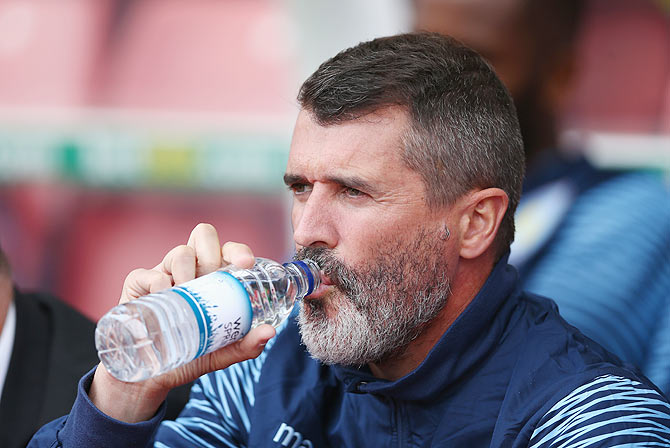 Aston Villa assistant manager Roy Keane
