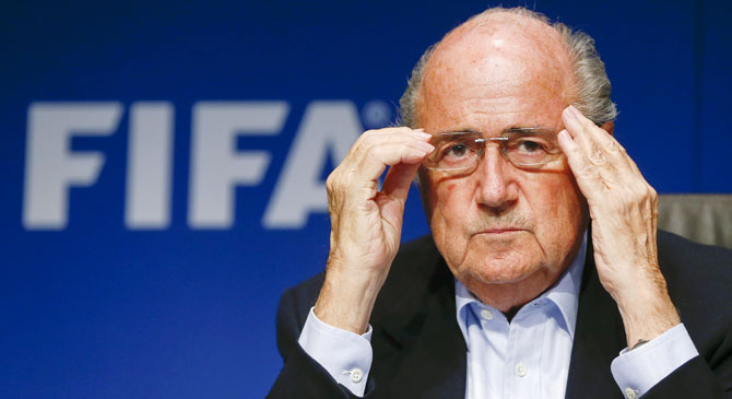 Rediff Sports - Cricket, Indian hockey, Tennis, Football, Chess, Golf - Blatter stands down as FIFA president