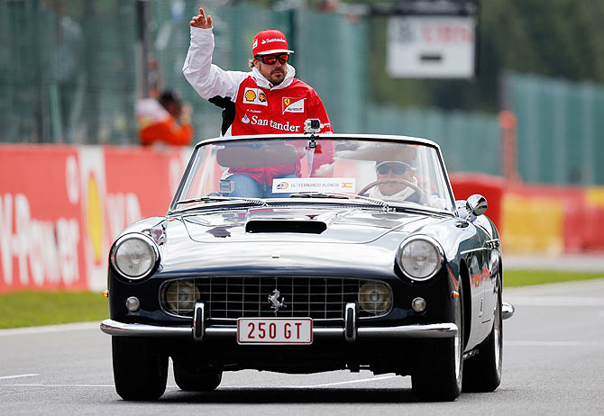 Fernando Alonso of Ferrari