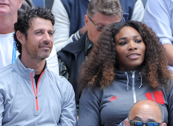 Serena Williams of the United States and her coach Patrick Mouratoglou