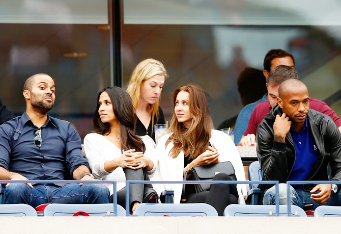 Tony Parker, Axelle Francine, Andrea Rajacic and Thierry Henry
