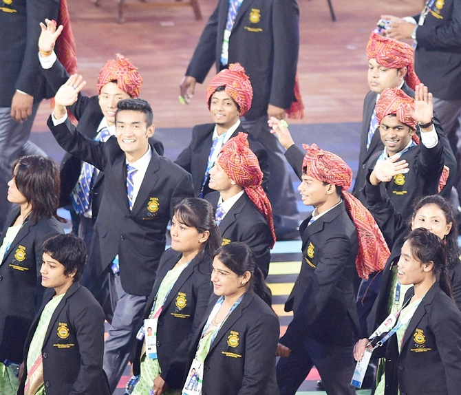 Indian athletes contingent
