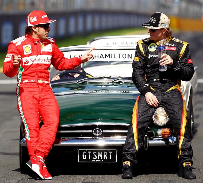 Rediff Sports - Cricket, Indian hockey, Tennis, Football, Chess, Golf - FIA sets new rules: No coded messages for Formula One drivers!