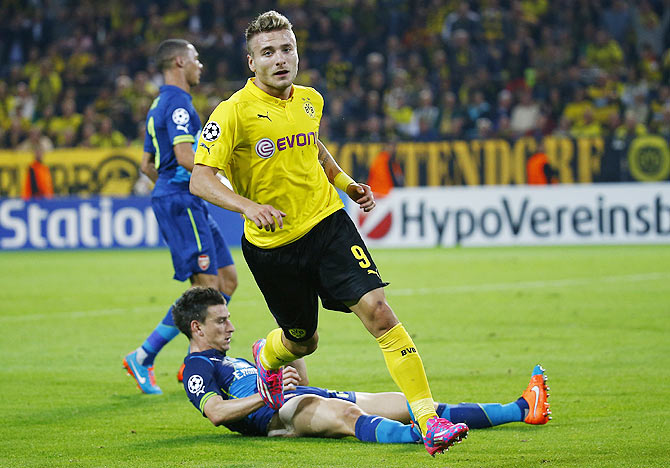 Rediff Sports - Cricket, Indian hockey, Tennis, Football, Chess, Golf - How Dortmund's Immobile found his touch and put Arsenal in state of inertia