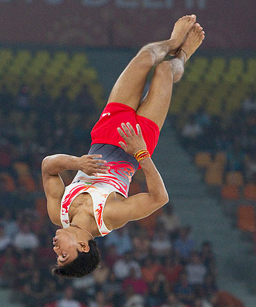 Rediff Sports - Cricket, Indian hockey, Tennis, Football, Chess, Golf - Asian Games: Indian gymnast, coach booked for 'harassing' woman player