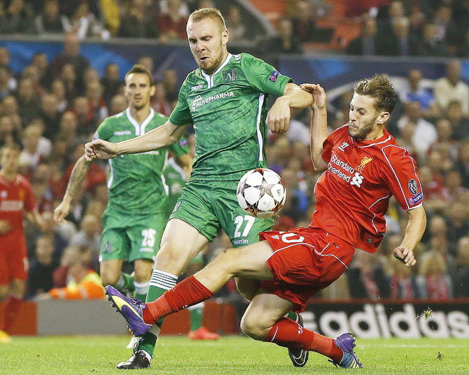 Rediff Sports - Cricket, Indian hockey, Tennis, Football, Chess, Golf - Frustrating Liverpool pull-off hard-fought win against Ludogorets