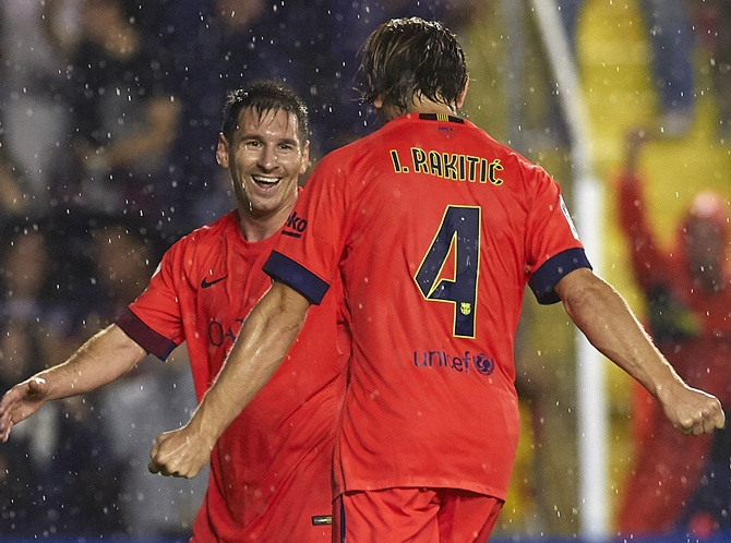 Rediff Sports - Cricket, Indian hockey, Tennis, Football, Chess, Golf - La Liga: Messi and Barca put on five-star show