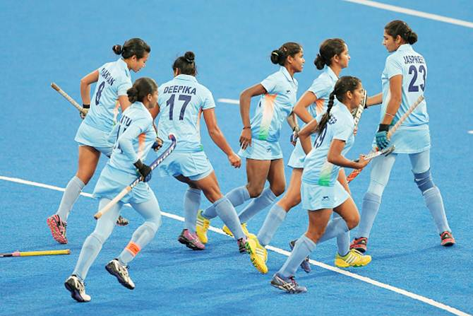 Indian players in action