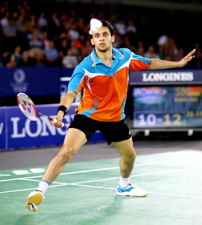 Rediff Sports - Cricket, Indian hockey, Tennis, Football, Chess, Golf - Hong Kong Open: Kashyap staggers into second round