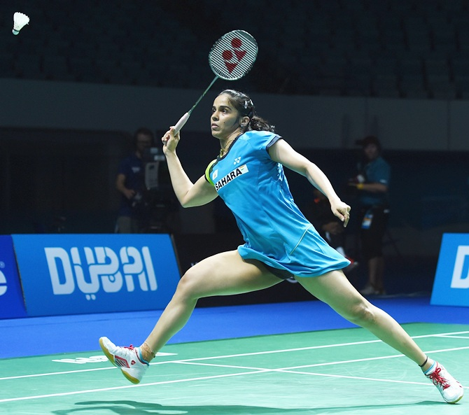 Rediff Sports - Cricket, Indian hockey, Tennis, Football, Chess, Golf - Asia Badminton C'ship: Saina sails to quarters, Sindhu ousted