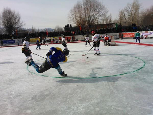 Indian ice hockey players practice for Asia Cup on Thursday