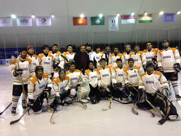 The Indian ice hockey team