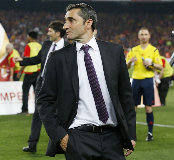 Rediff Sports - Cricket, Indian hockey, Tennis, Football, Chess, Golf - Why new coach Valverde faces huge job to revive Barcelona