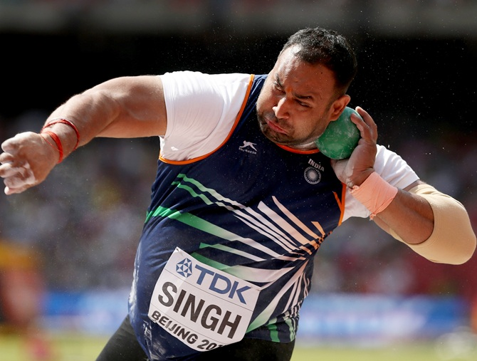 Rediff Sports - Cricket, Indian hockey, Tennis, Football, Chess, Golf - Shot putter Inderjeet too fails dope test; cries conspiracy