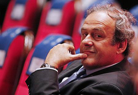 Rediff Sports - Cricket, Indian hockey, Tennis, Football, Chess, Golf - Platini 'serving last term as UEFA chief'