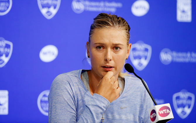 Rediff Sports - Cricket, Indian hockey, Tennis, Football, Chess, Golf - 'Sharapova should not get French Open wildcard'