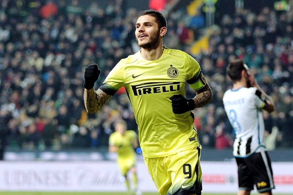 Mauro Icardi of FC Internazionale Milano celebrates after scoring a goal