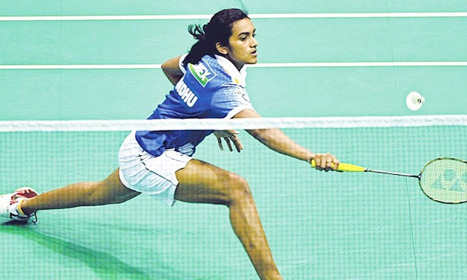 Rediff Sports - Cricket, Indian hockey, Tennis, Football, Chess, Golf - Sindhu knocked out of Badminton Asia Championships