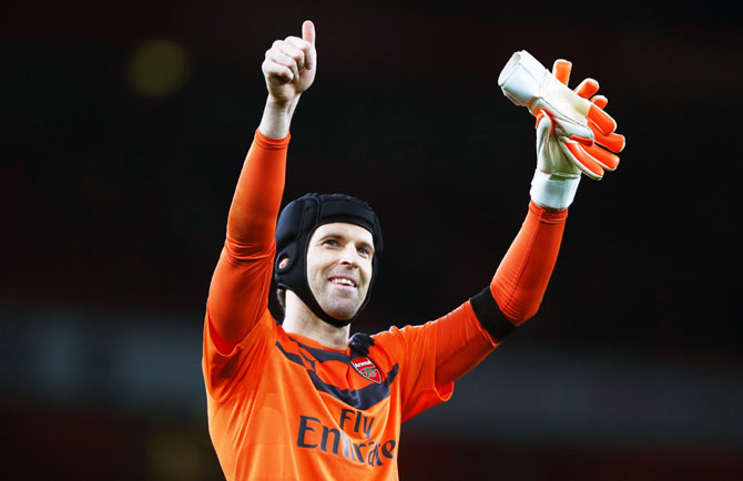 Arsenal keeper Petr Cech had to wait 11 games to reach landmark 200th clean sheet in the EPL