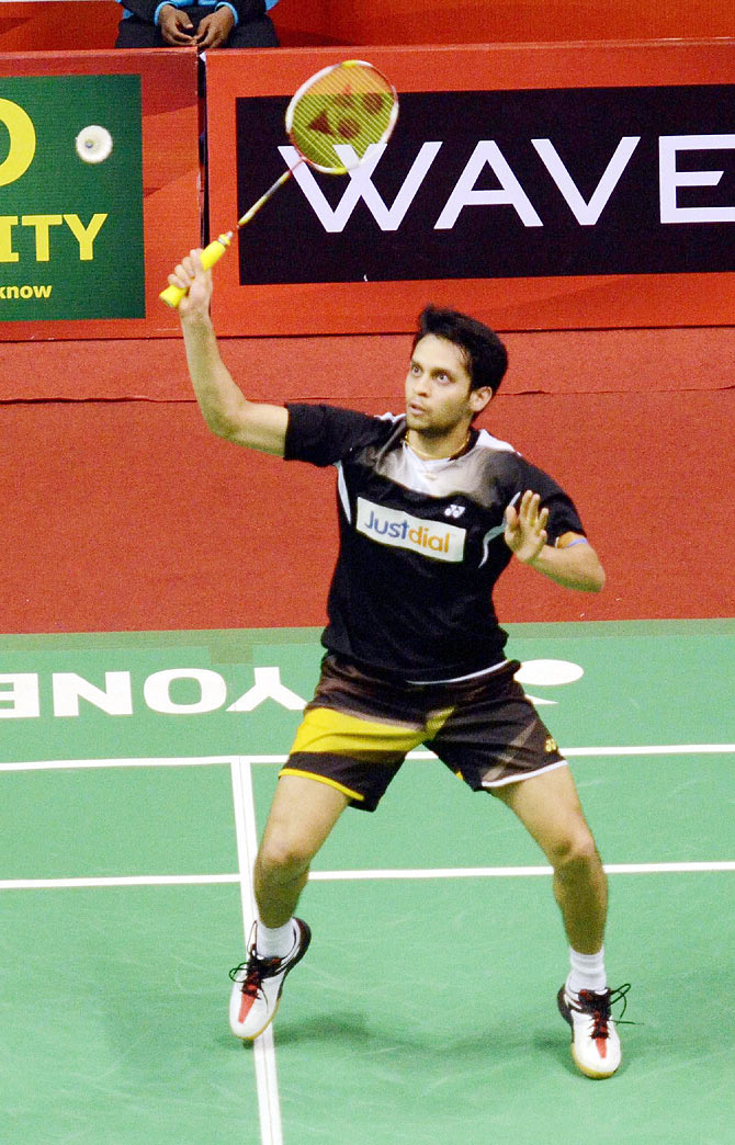 Indian shuttler Parupalli Kashyap during the semi-final of the Syed Modi International Badminton tournament in Lucknow on Saturday