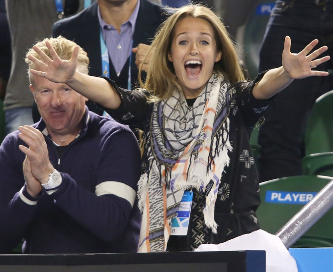 Rediff Sports - Cricket, Indian hockey, Tennis, Football, Chess, Golf - After fiance's F-word fusillade, Murray out in 'Open' to defend her!