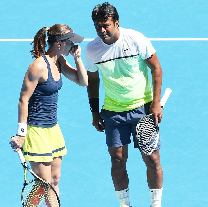 Rediff Sports - Cricket, Indian hockey, Tennis, Football, Chess, Golf - Sania loses; Can Paes win his 15th Slam at Aus Open?