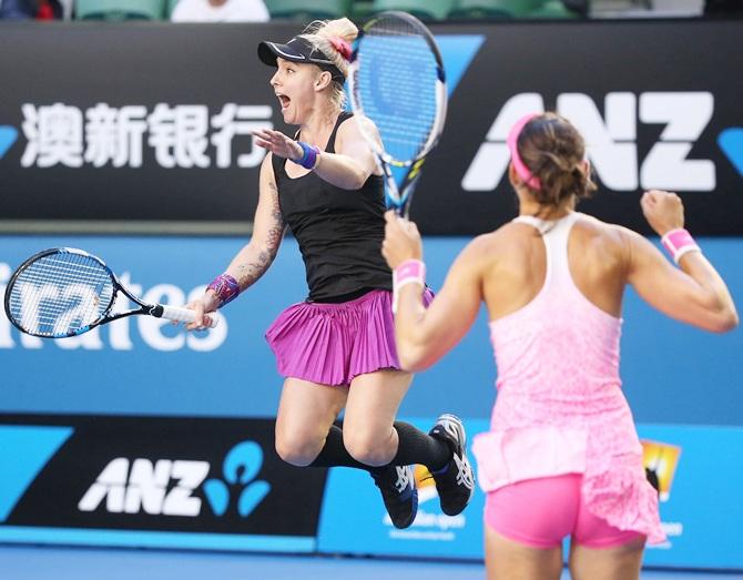 Rediff Sports - Cricket, Indian hockey, Tennis, Football, Chess, Golf - Australian Open: Mattek-Sands and Safarova claim women's doubles title