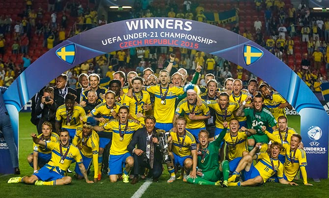 Rediff Sports - Cricket, Indian hockey, Tennis, Football, Chess, Golf - Sweden lift Euro U21 crown with shootout win over Portugal