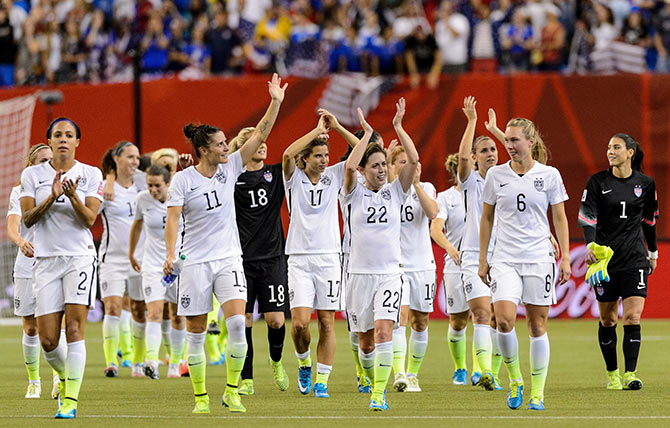 Rediff Sports - Cricket, Indian hockey, Tennis, Football, Chess, Golf - Women's World Cup: Americans beat Germany to reach final