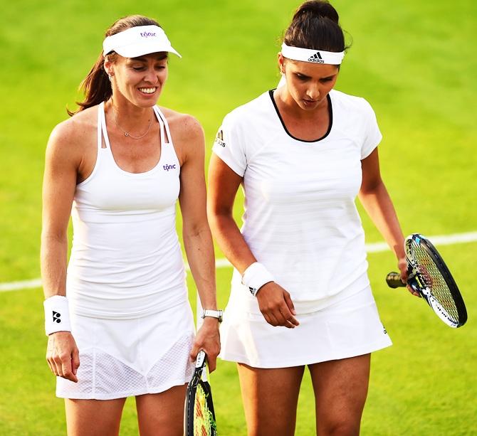 Babos-Shvedova stun Sania-Martina in Wimbledon quarter-finals