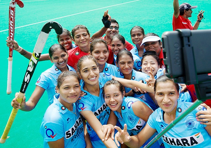 Indian women hockey players