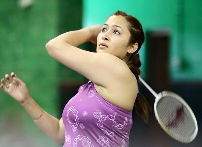 Jwala Gutta in action