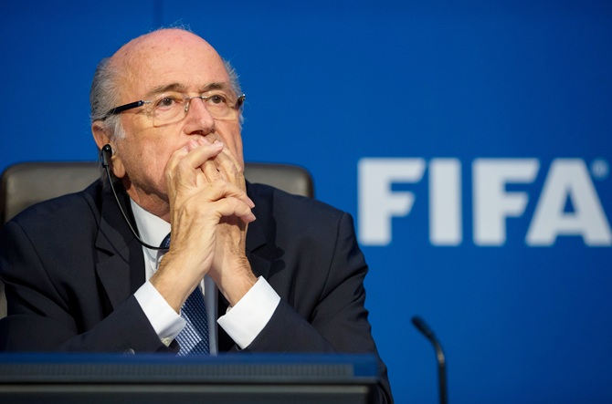 Rediff Sports - Cricket, Indian hockey, Tennis, Football, Chess, Golf - Will former FIFA chief Blatter win ban appeal?