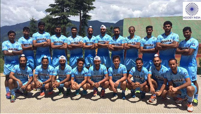 The Indian men's hockey squad that will tour Europe later this month