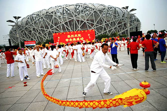 Rediff Sports - Cricket, Indian hockey, Tennis, Football, Chess, Golf - IOC in no mood for risks, opts for Beijing's sure bet
