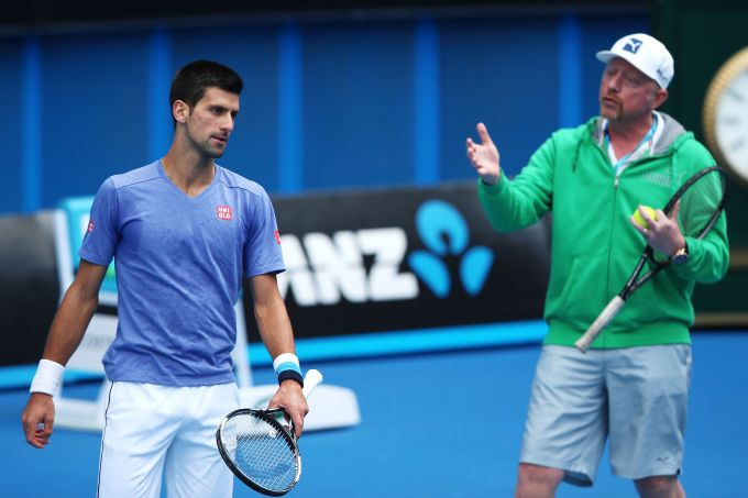 Rediff Sports - Cricket, Indian hockey, Tennis, Football, Chess, Golf - Djokovic splits with coach Becker after three years