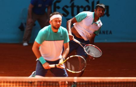 Rediff Sports - Cricket, Indian hockey, Tennis, Football, Chess, Golf - Bopanna-Mergea make sound start at Wimbledon