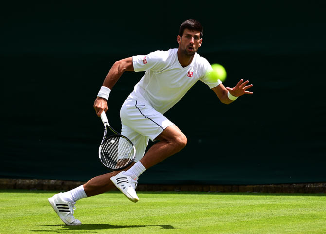 Rediff Sports - Cricket, Indian hockey, Tennis, Football, Chess, Golf - Champion Djokovic faces tough opening match at Wimbledon